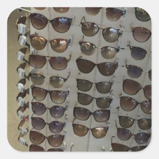 Modelo do acessório de forma dos óculos de adesivo quadrado