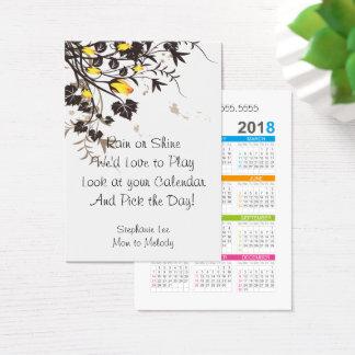 Modelo do calendário dos rosas 2018 do cartão