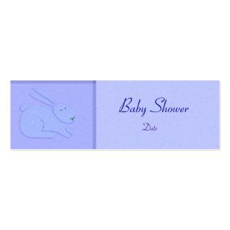 Modelo do cartão - anúncio/chá do bebê cartão de visita skinny