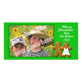 Modelo do cartão com fotos do casal dos biscoitos