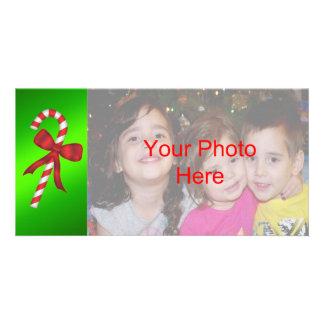 Modelo do cartão com fotos do feriado do Natal do Cartão Com Foto