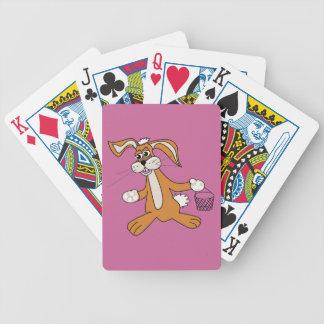 Modelo do cartão da bicicleta - personalizado baralhos para pôquer