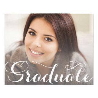 Modelo do cartão da graduação panfleto coloridos