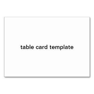 modelo do cartão da mesa