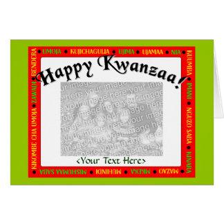Modelo do cartão de Kwanzaa