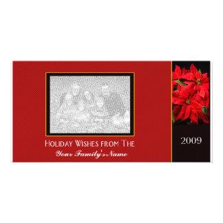 Modelo do cartão de Natal da foto Cartões Com Fotos