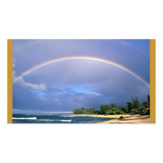modelo do cartão de ônibus do arco-íris cartão de visita