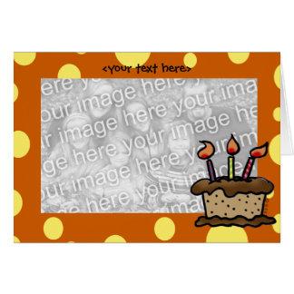 Modelo do cartão do bolo de aniversário