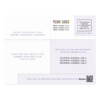 Modelo do cartão do negócio com logotipo & Indicia