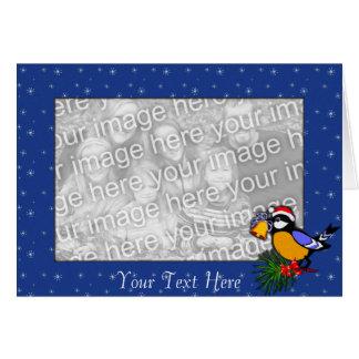 Modelo do cartão - pássaro do Natal
