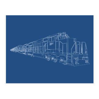 Modelo do comboio de mercadorias: Estrada de Cartão Postal