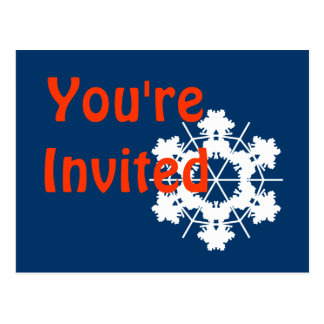 Modelo do convite da festa de Natal Cartão Postal