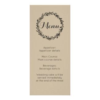 Modelo do costume do menu da recepção de casamento