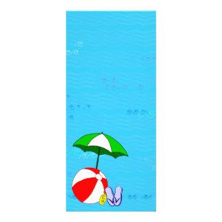 Modelo do guarda-chuva da piscina da bola de praia 10.16 x 22.86cm panfleto