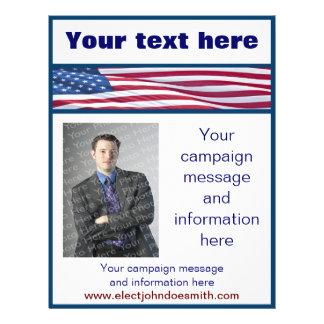 Modelo do insecto da campanha eleitoral da bandeir panfletos coloridos