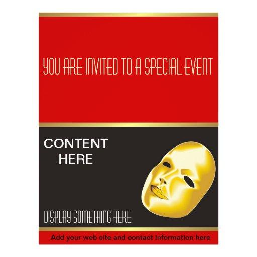 Modelo do insecto do entretenimento panfleto personalizados