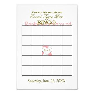 Modelo do jogo do Bingo Convite 12.7 X 17.78cm