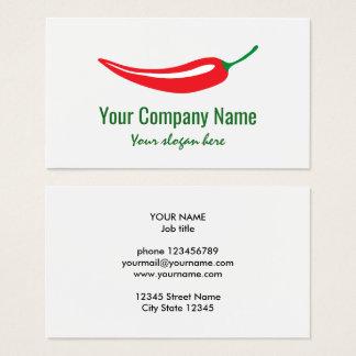 Modelo do logotipo da empresa da pimenta de cartão de visitas