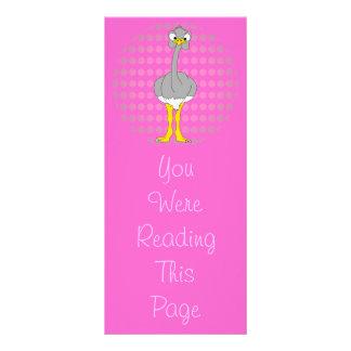 Modelo do marcador da avestruz panfletos informativos personalizados