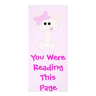 Modelo do marcador do bebé panfleto informativo