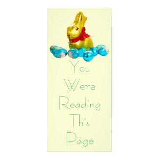Modelo do marcador do coelho e dos ovos 10.16 x 22.86cm panfleto