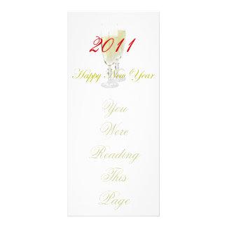 Modelo do marcador do feliz ano novo 10.16 x 22.86cm panfleto