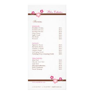 Modelo do menu dos termas de Sakura - o dobro