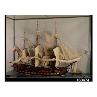 Modelo do navio 'L'Achille Cartão Postal