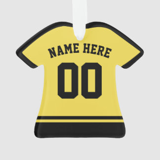 Modelo do ornamento do nome & do número do jérsei