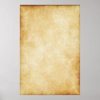 Modelo do papel de pergaminho do fundo poster