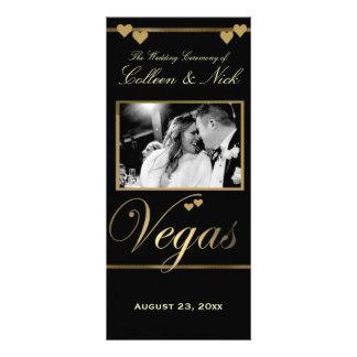 Modelo do programa do casamento de Vegas 10.16 X 22.86cm Panfleto