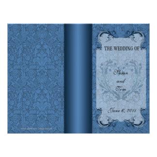 Modelo do programa do casamento panfletos personalizado