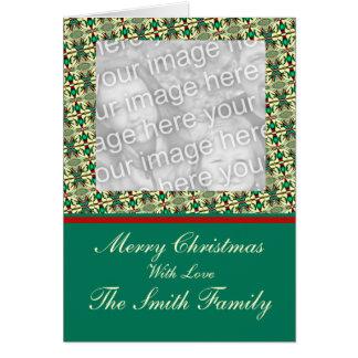 Modelo do quadro da foto do Natal Cartão Comemorativo