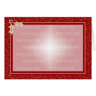 Modelo do quadro de cartão do Natal horizontal