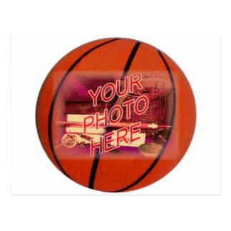 Modelo do quadro do basquetebol cartão postal