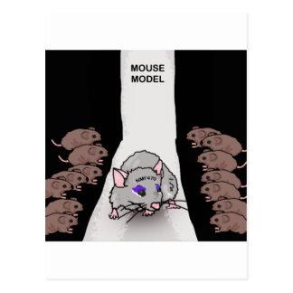 Modelo do rato cartão postal