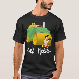 Modelo do rolo camiseta