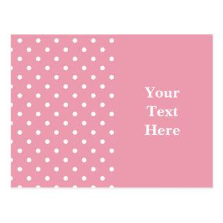 Modelo do rosa cor-de-rosa cartão postal