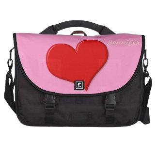 modelo do saco do laptop do coração 3D Bolsa Para Laptops