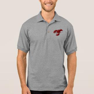Modelo do t-shirt do polo dos homens da lagosta
