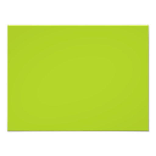 Modelo do vazio da tendência da cor de verde limão impressão fotográficas