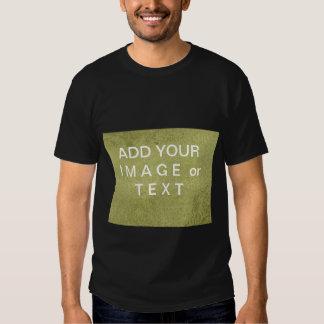 Modelo do verde do retângulo de SatinSilk no preto Camisetas
