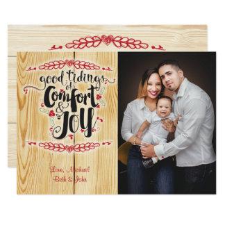 Modelo dos cartões de foto de Natal do conforto e