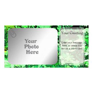 Modelo dos cartões de fotos do teste padrão da mús cartao com fotos