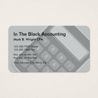 Modelo dos cartões de visitas do contador