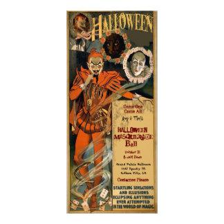 Modelo dos convites do mascarada do Dia das Bruxas 10.16 X 22.86cm Panfleto