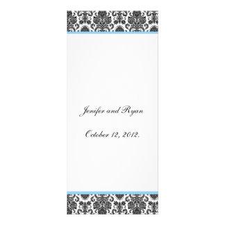 Modelo elegante do cartão da cremalheira do menu d 10.16 x 22.86cm panfleto