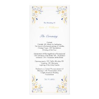 Modelo elegante do programa do casamento 10.16 x 22.86cm panfleto