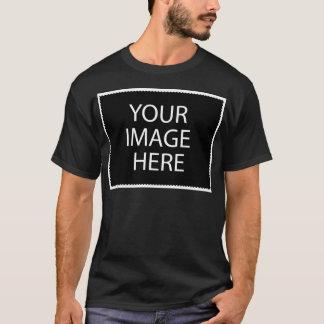 Modelo escuro básico do t-shirt camiseta