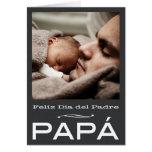 Modelo espanhol do cartão do dia dos pais